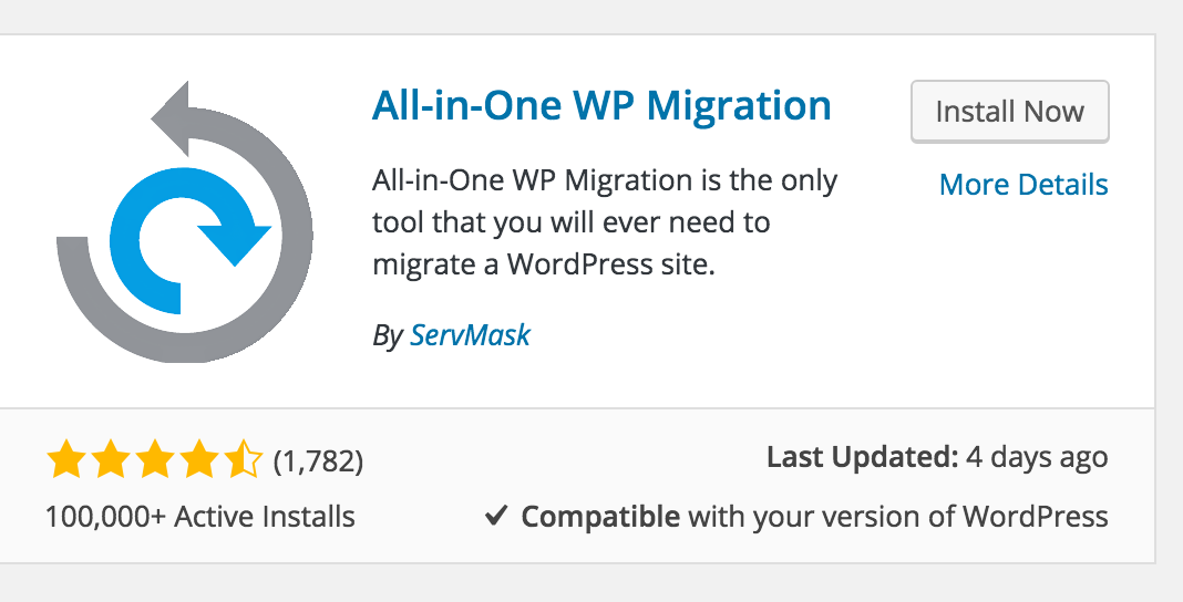 All-In-One WP Migration Review