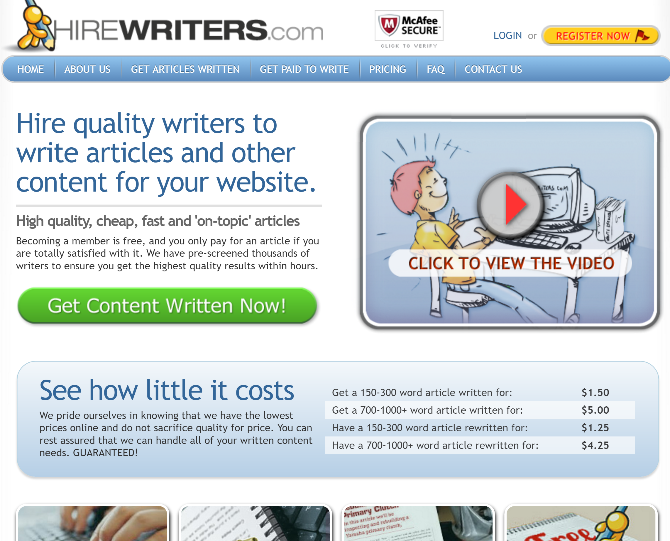 Hirewriters.com Review 2019